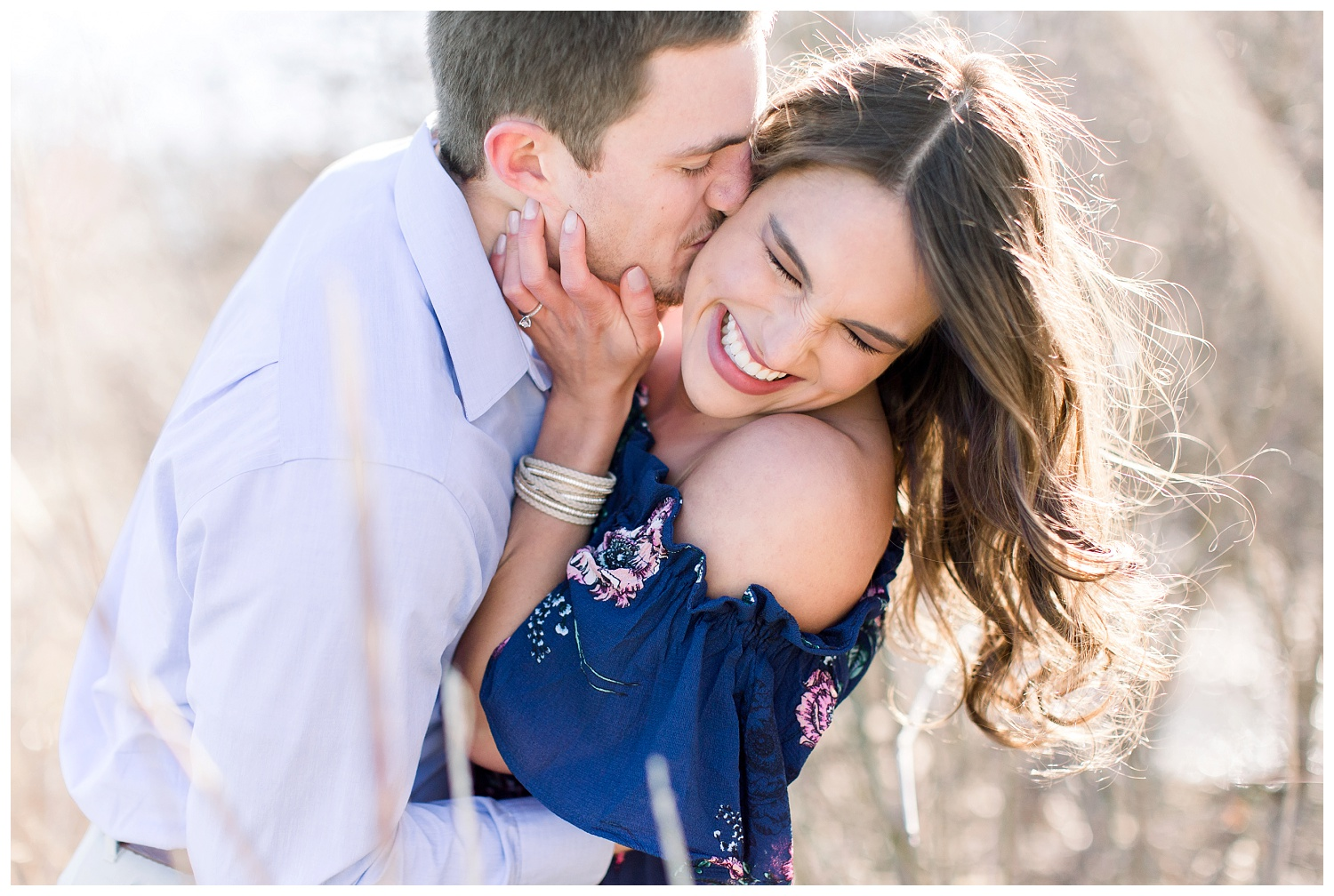 Genuine engagement photography in Kansas City