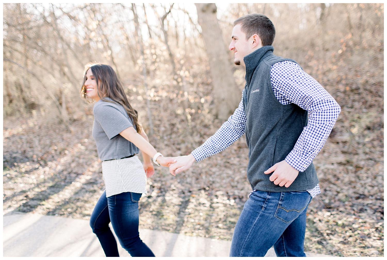 Adventurous engagement photography in Kansas City
