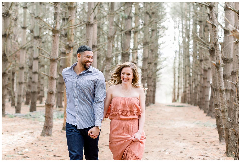 Engagement photos at Burr Oak Woods, Missouri