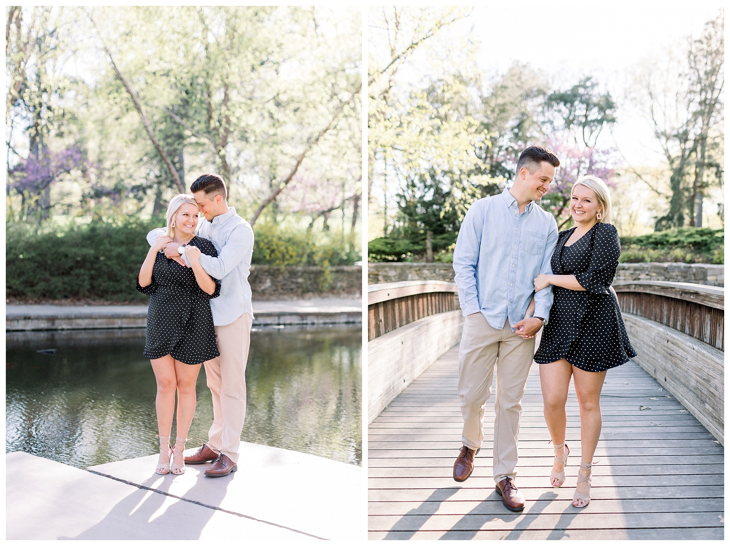engagement photos at Loose Park KC