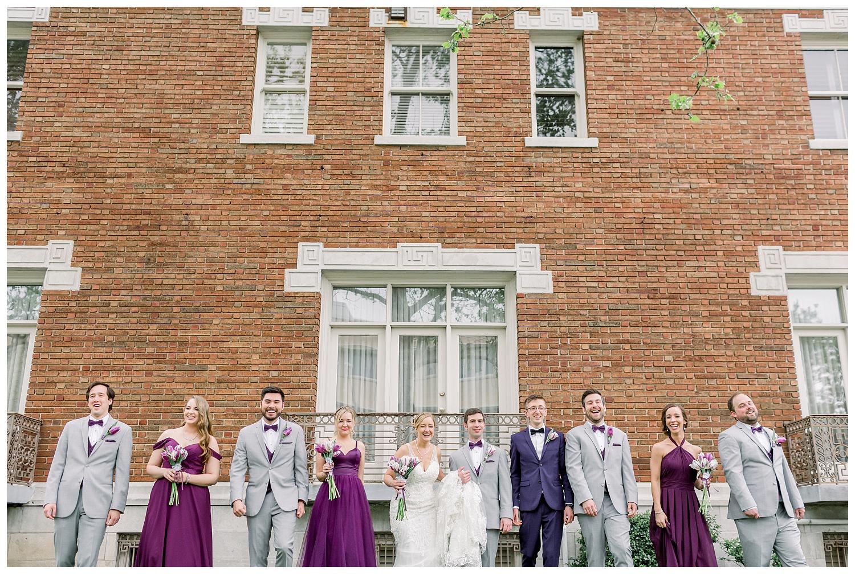 Loose Mansion wedding photos of bridal party