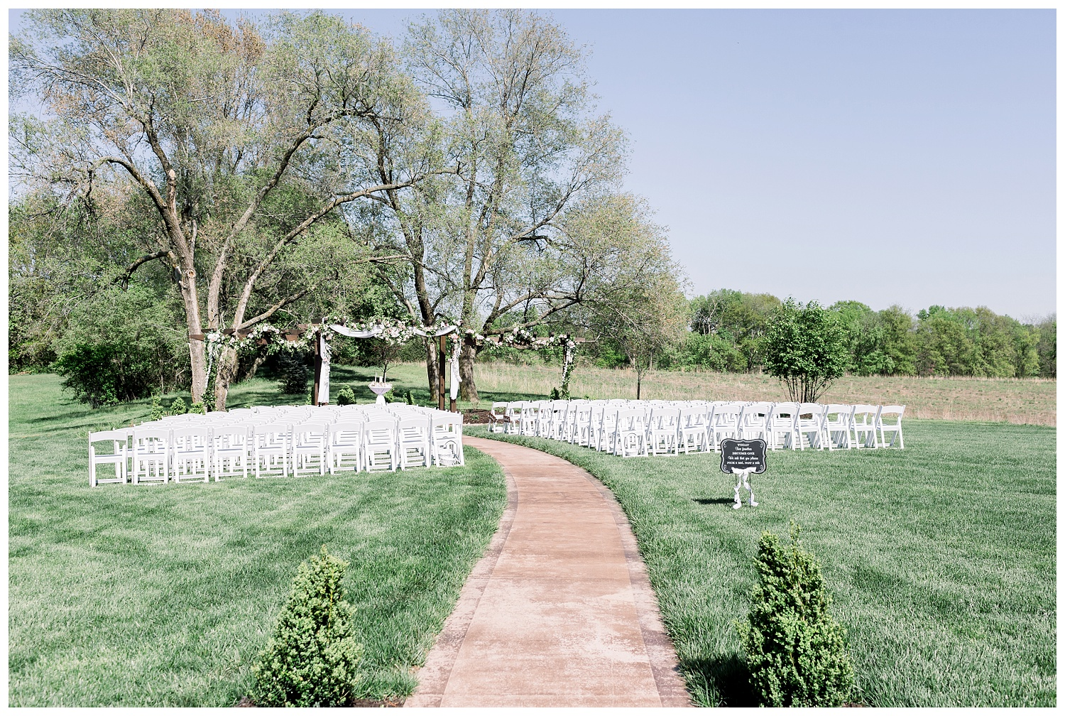 Ceremony site at The Legacy