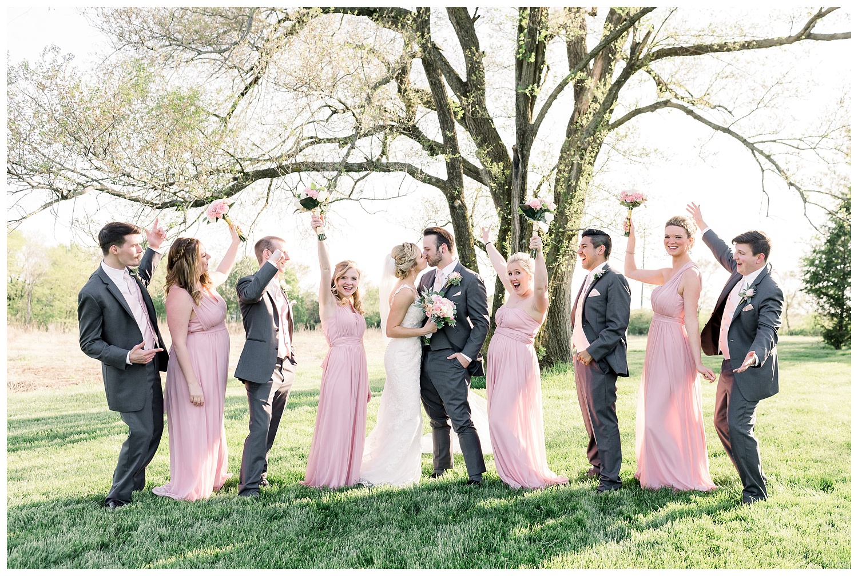 full bridal party photos Kansas City