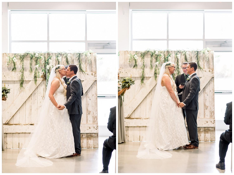 Johnson County Arts and Heritage Center wedding ceremony photos