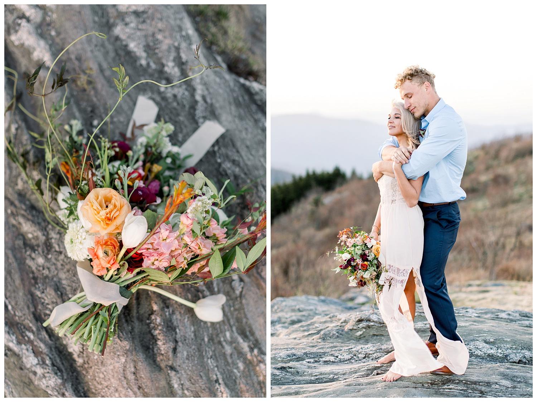Mountaintop elopement photos