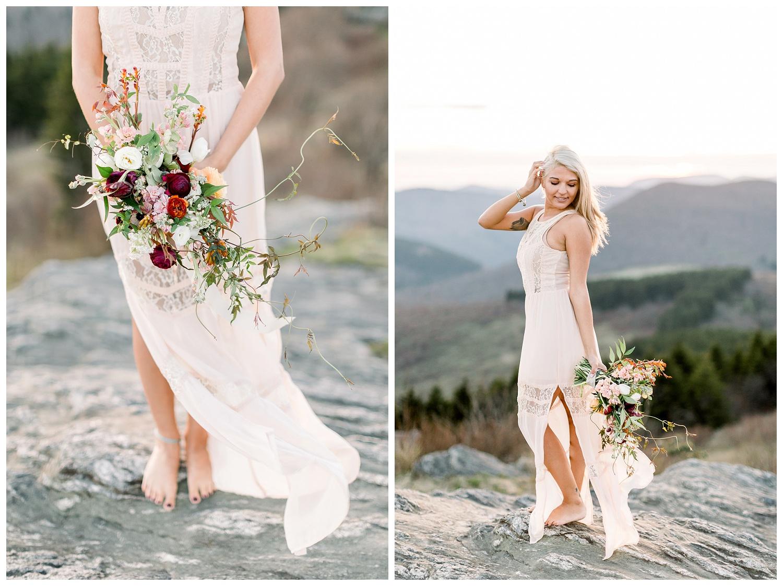 unique nature inspired bridal bouquet