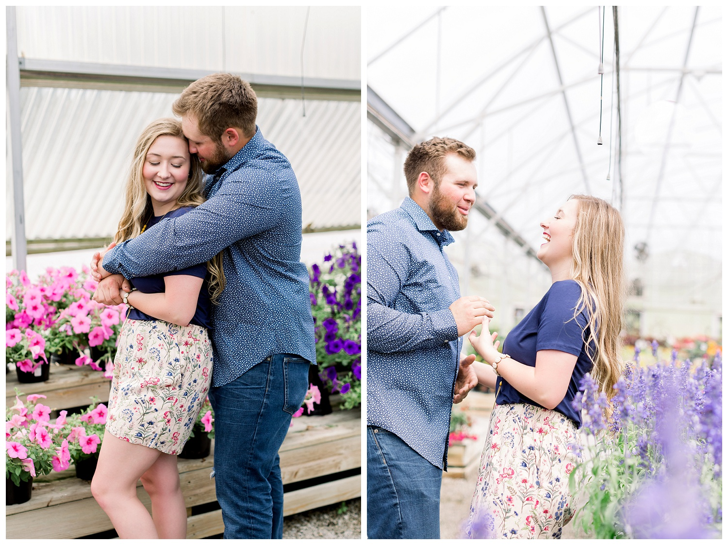 Engagement session at Farrand Farms