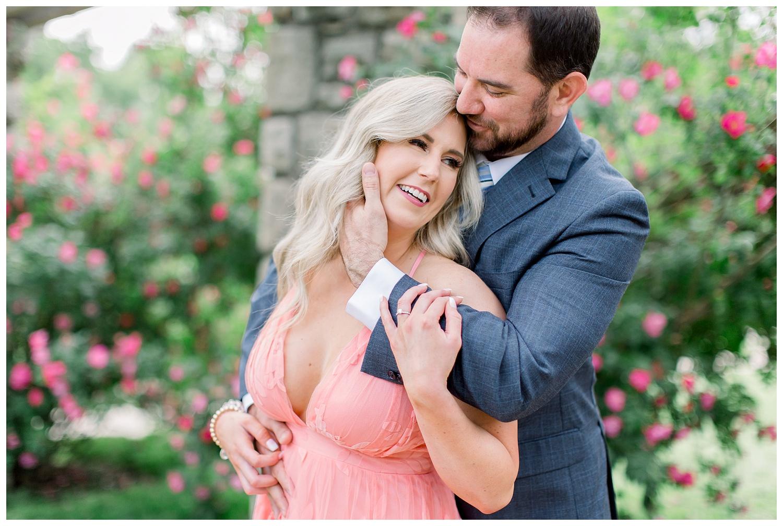 Kansas City Rose Garden Engagement photos