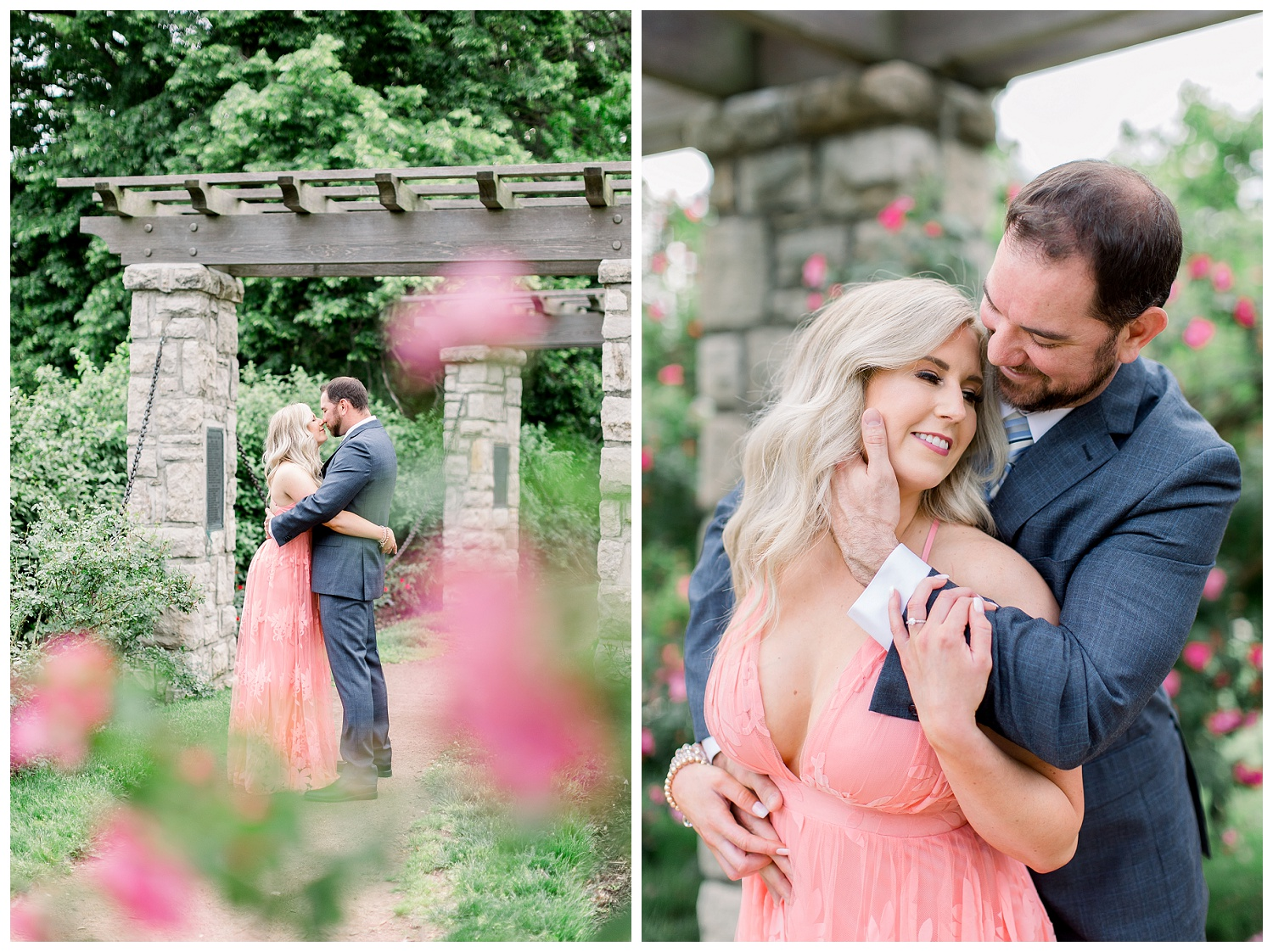 Engagement photography at Loose Park Rose Garden