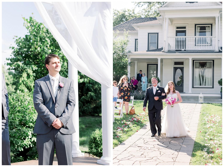 Outdoor wedding ceremony Kansas City