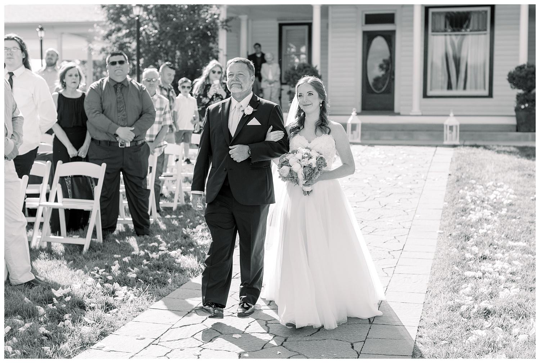 Outdoor wedding ceremony at 1890
