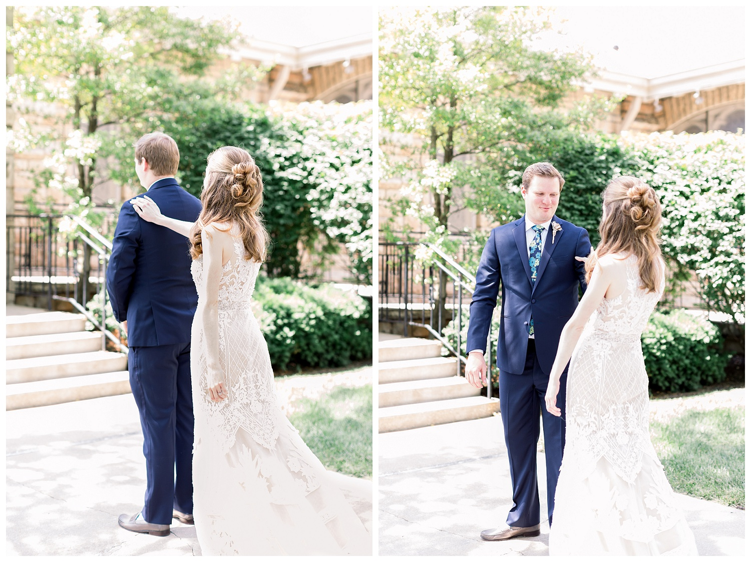 first looks on wedding day photos