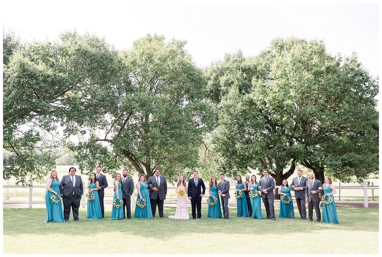 Big bridal party wedding photography