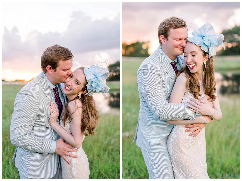 Bride and groom sunset portraits Kansas City weddings