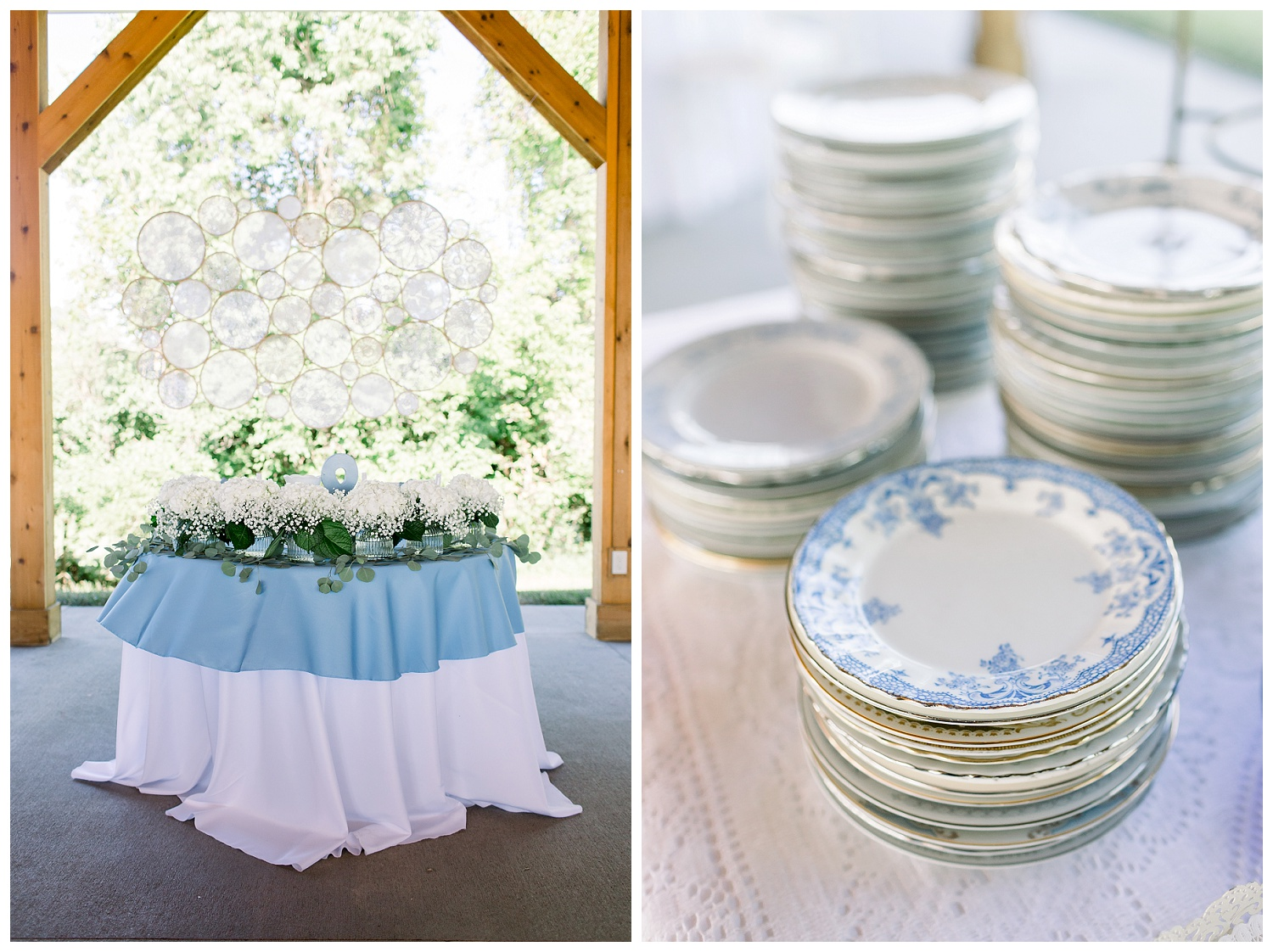 vintage dishes for wedding receptions