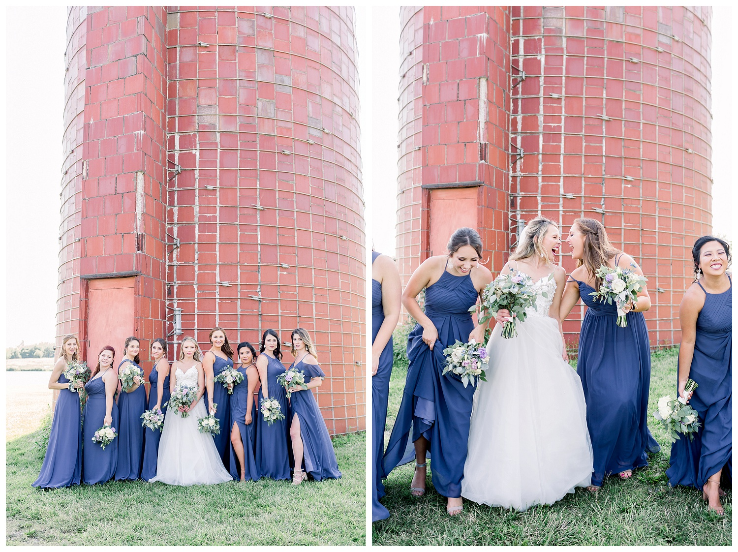 bridal party photos at Heritage Park