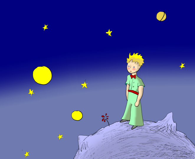 Illustration from The Little Prince