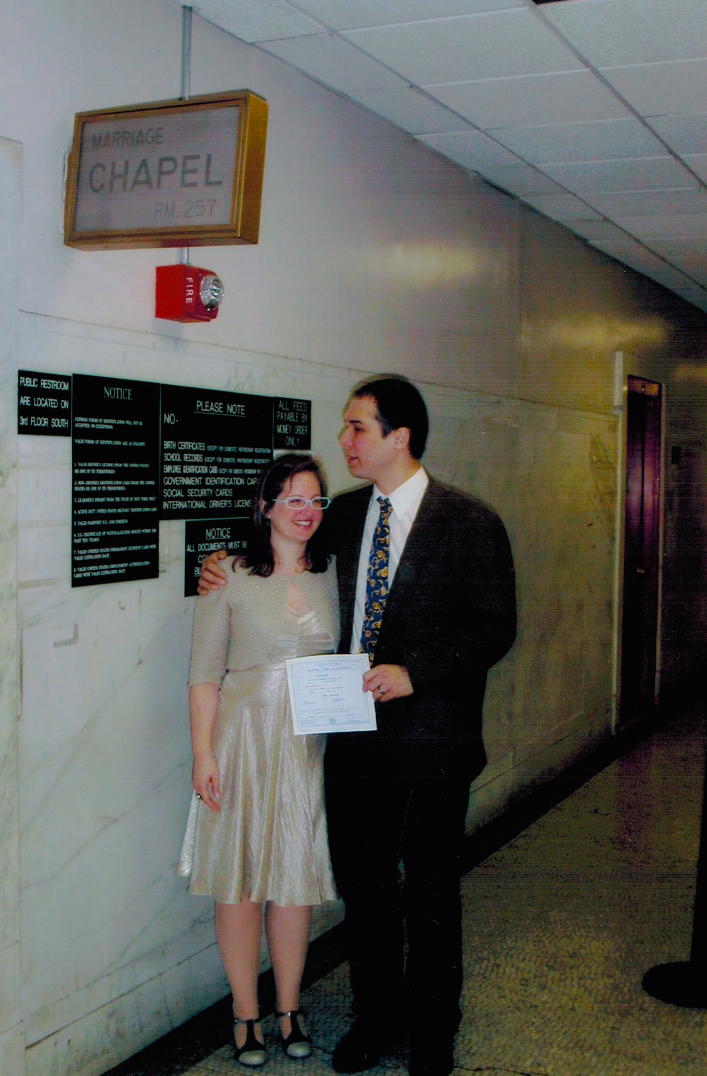 Wedding day. City Hall, New York City.