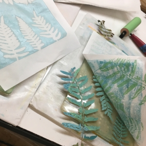 Gelli Plate Nature Printing