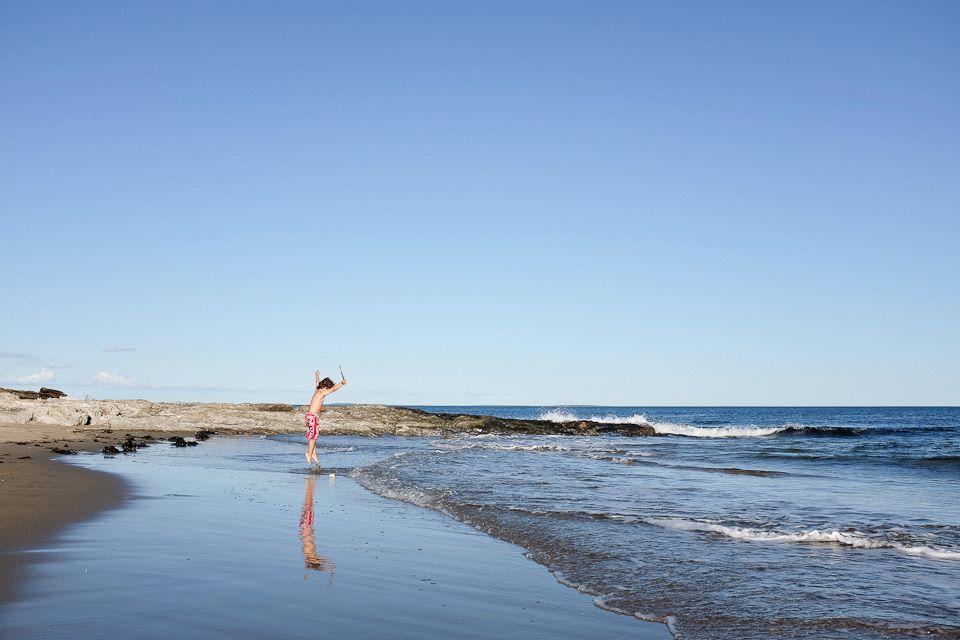 Liam. Reid State Park. Mile Long Beach. Maine.