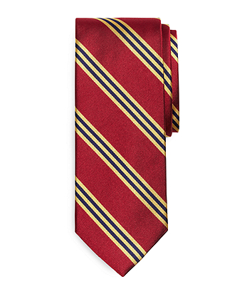 Brooks Brothers regimental stripe.