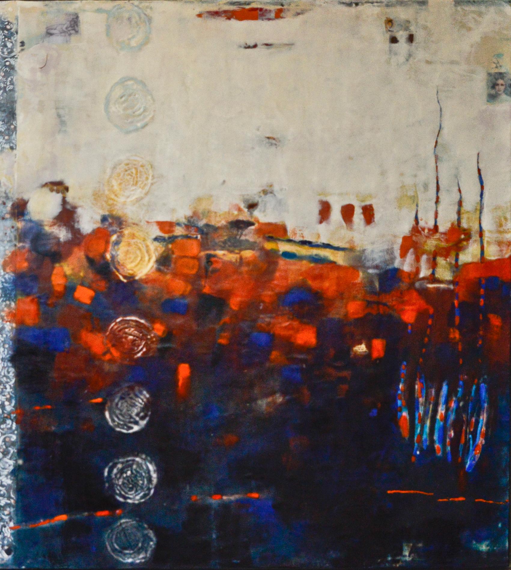 Worlds Apart (Orpheus and Eurydice),  54 x 60