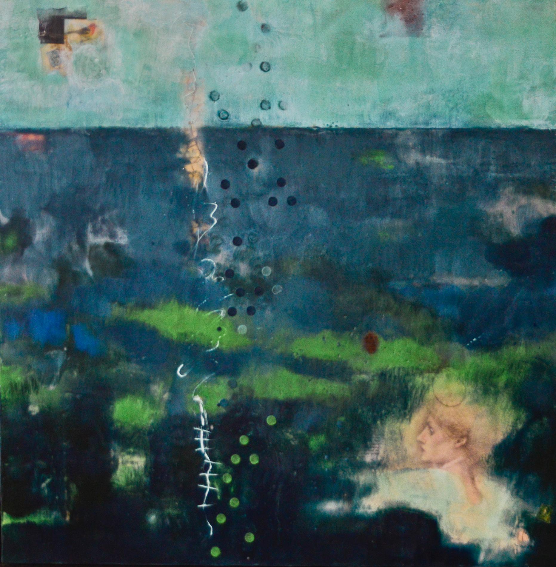 The Phosphorescent Blues (Sirens),  30 x 30