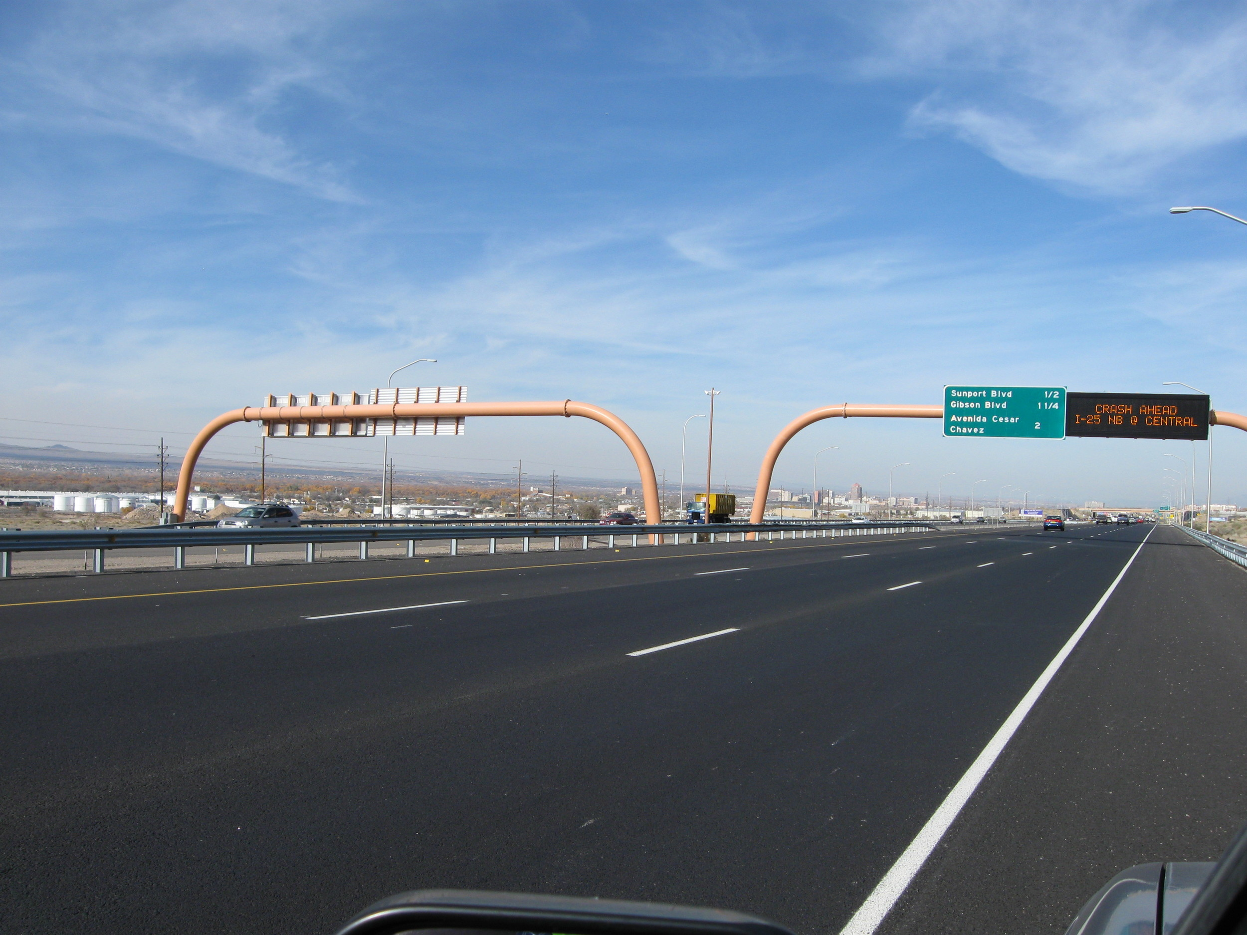 Digital Message Sign installed by Bixby Electric on a previous I-25 project.
