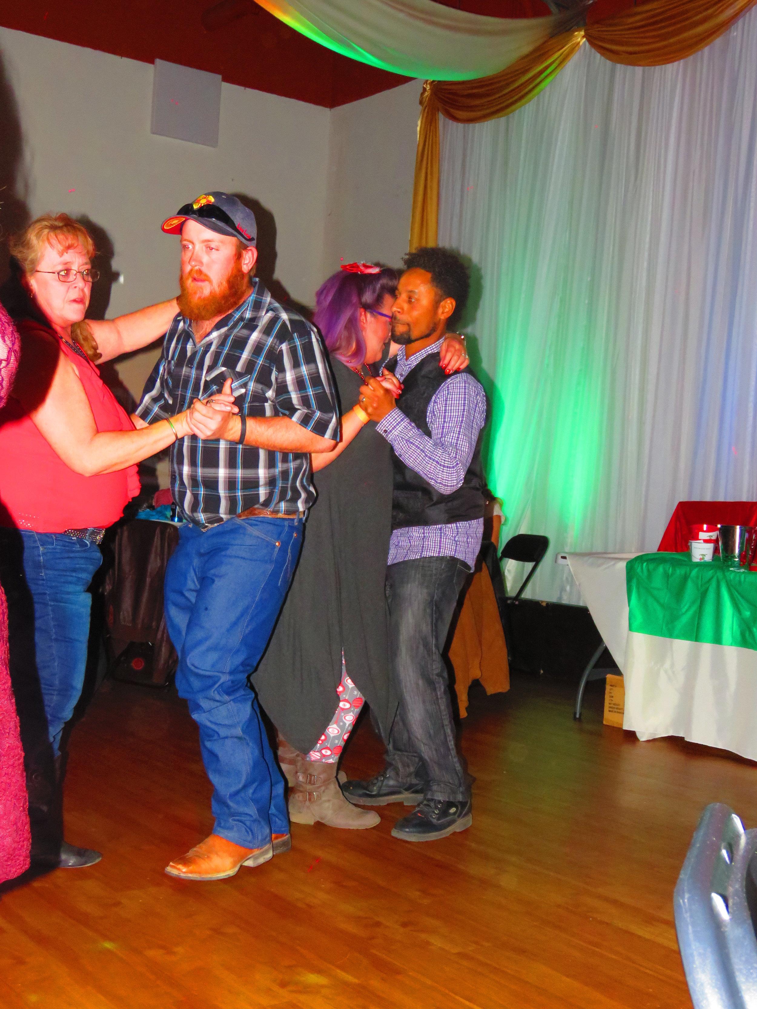 EZRA, MOM, STACEY & BRIAN DANCING.JPG