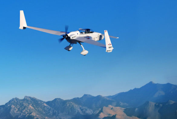 Chip Yates' electric plane can keep up with gas-powered competitors. Yates Electrospace Corporation photo