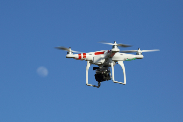 Drone with Go Pro camera attached (Flickr user Don McCullough photo).