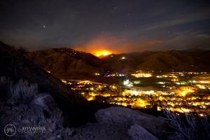 Jeff Warner pic of the Indian Gulch Fire behind Golden.