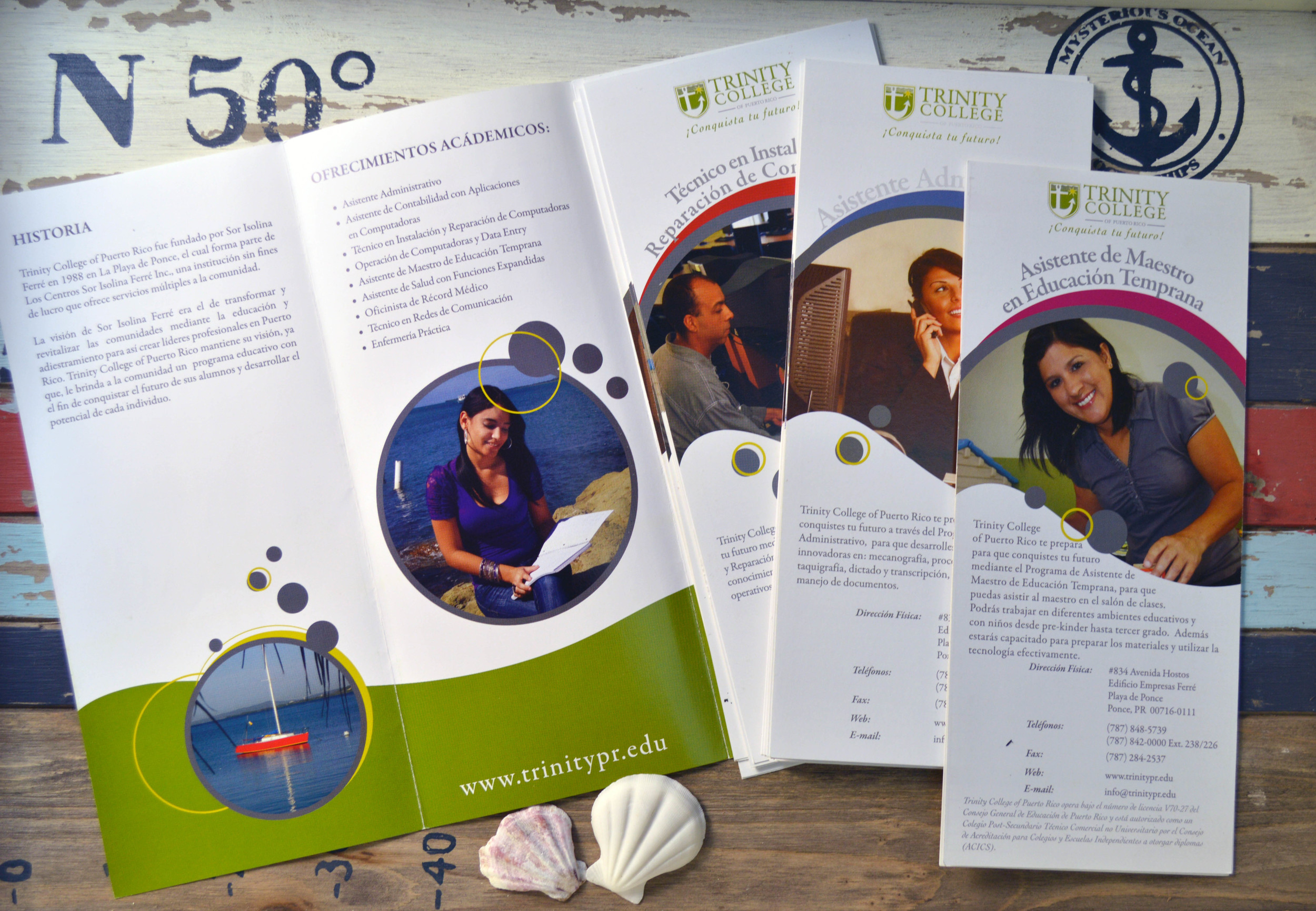 Trifold Brochure with Program Inserts.
