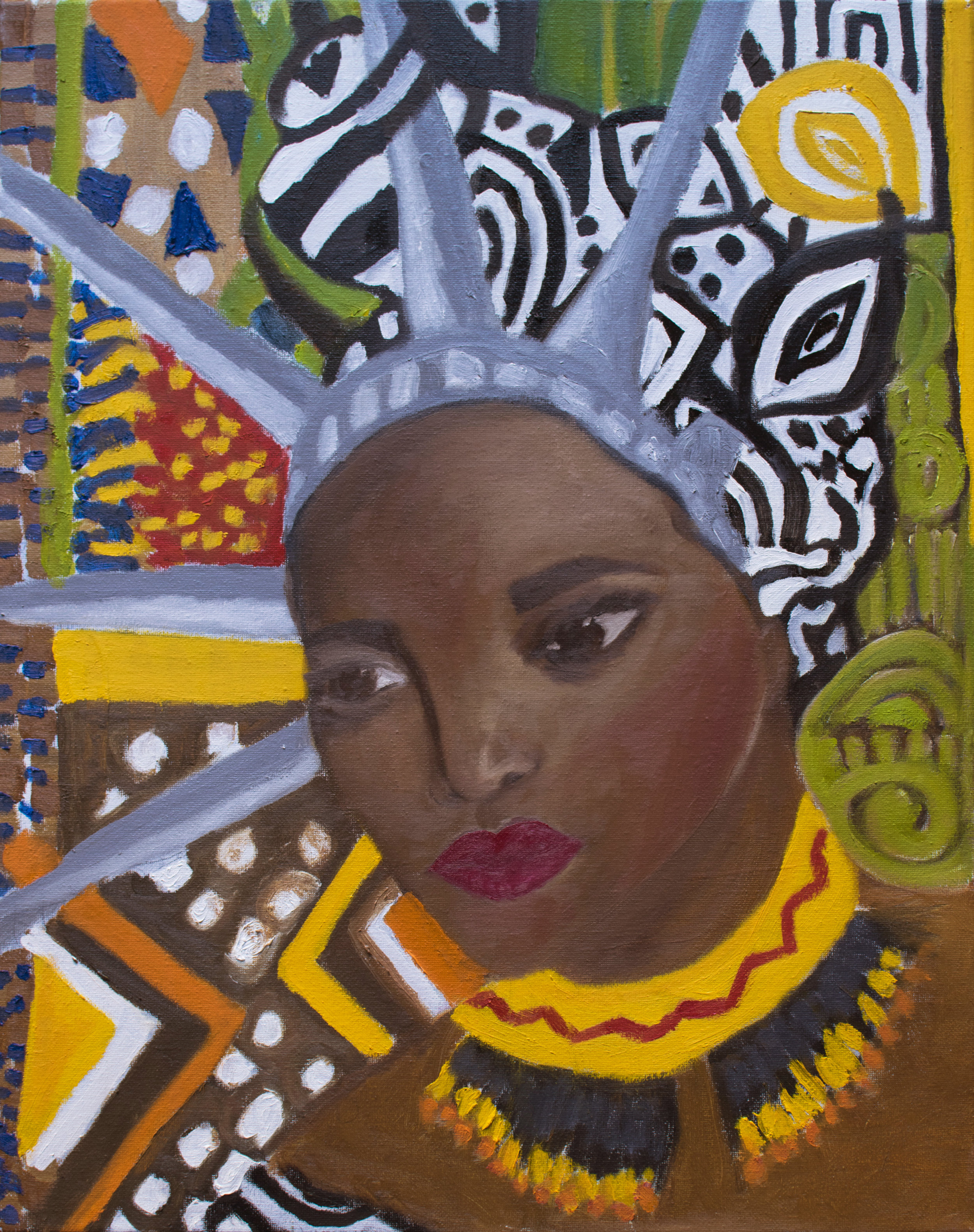 "AFRICAN AMERICAN    16X20 oil on canvas   ""Dignity means that what I have to say is important, and I will say it when it's important for me to say it. Dignity really means that I deserve the best treatment I can receive. And that I have the responsibility to give the best treatment I can to other people."" - Maya Angelou"