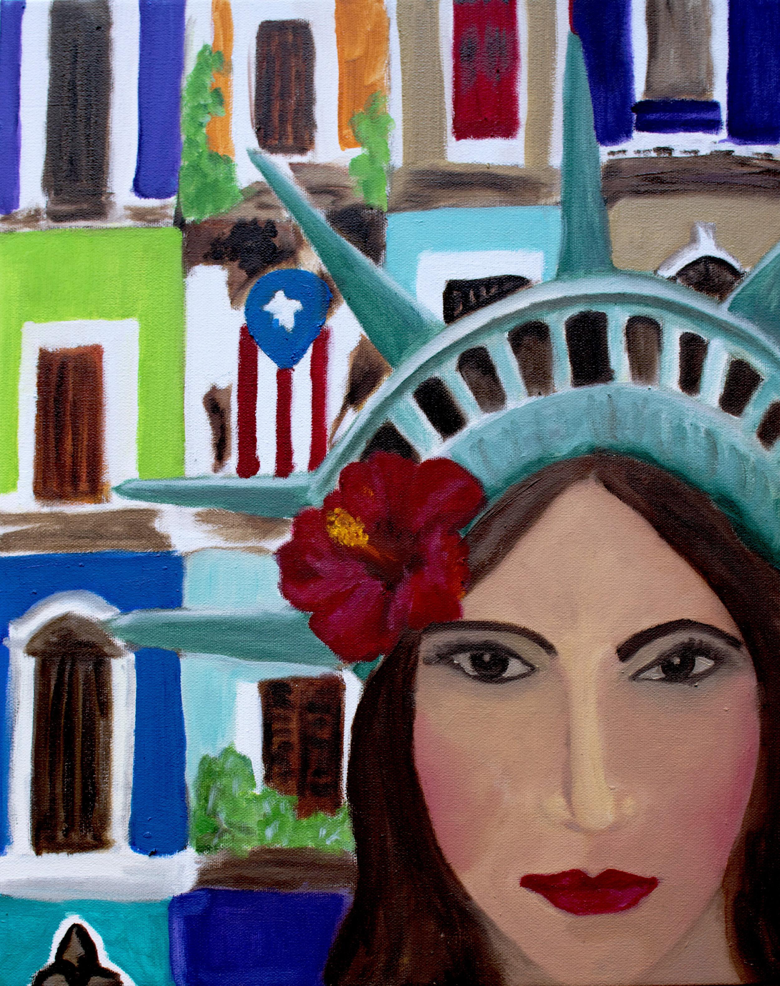 JULIA DE BURGOS, PUERTORRICAN    16X20 oil on canvas