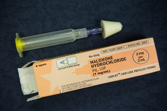 Naloxone in an atomized nasal spray (Getty Images)