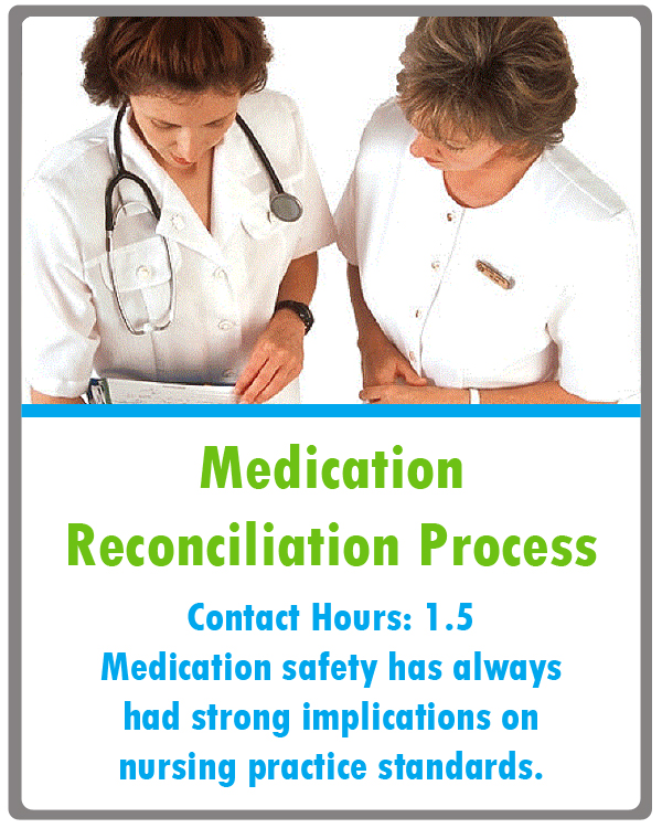 Medication Reconciliation Continuing Education