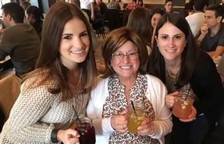 Liz Lehmann and her two daughters Cassie, left, and Sam, right, in Manhattan in May, 2016.    Family photo