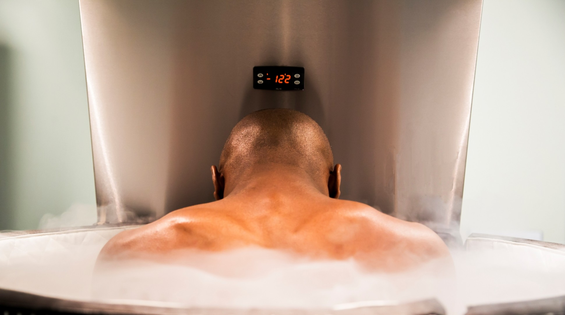 Floyd Mayweather in a Cryotherapy Chamber (photo by SubZero Recovery)