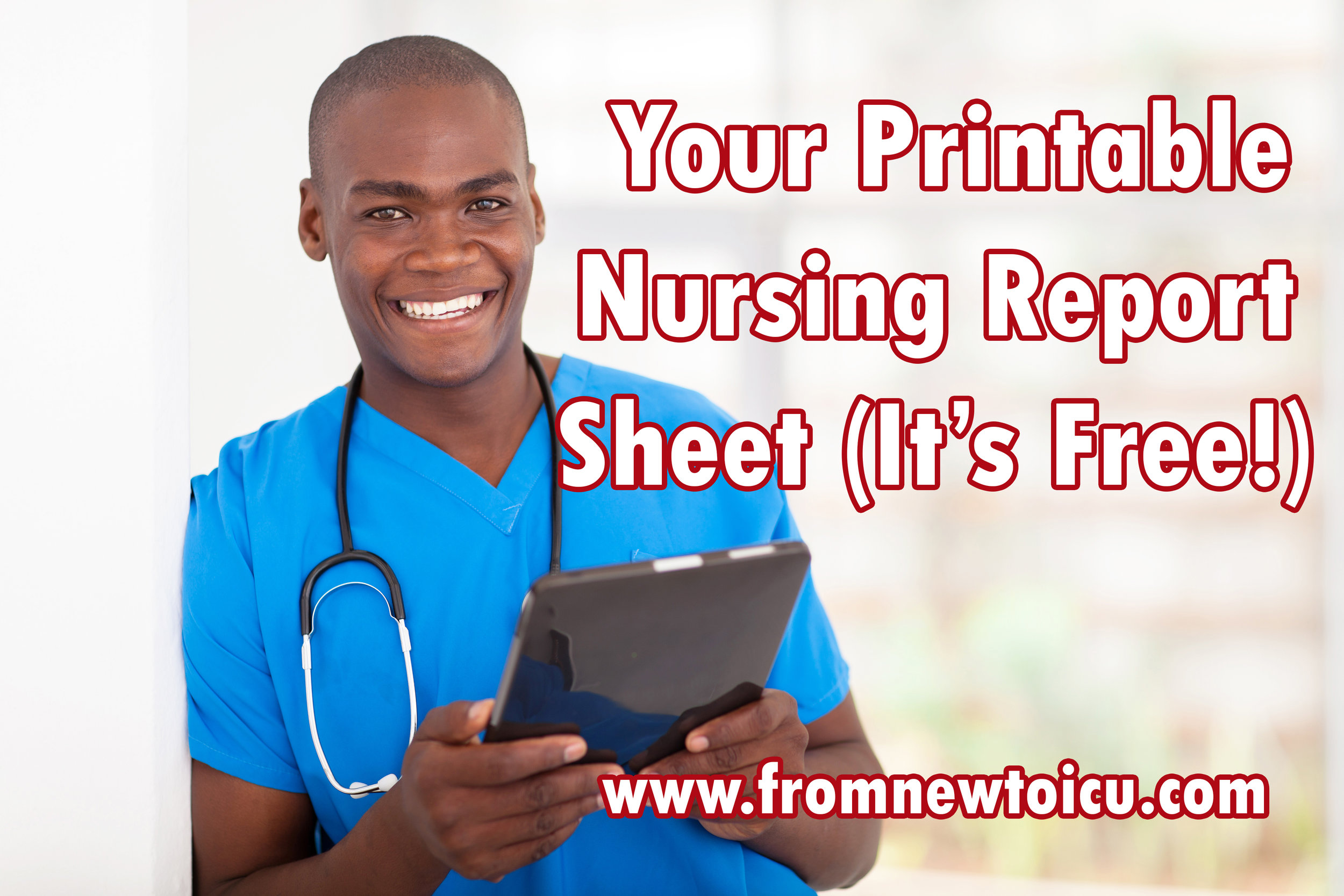free nursing report sheet