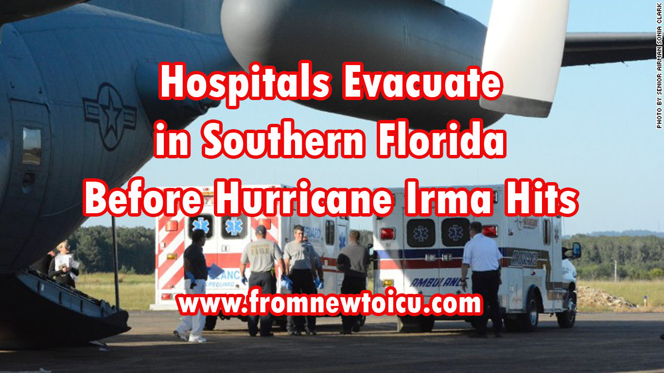 Eleven patients from the Lower Keys Medical Center were evacuated to Gadsden, Alabama, in a North Carolina National Guard aircraft.