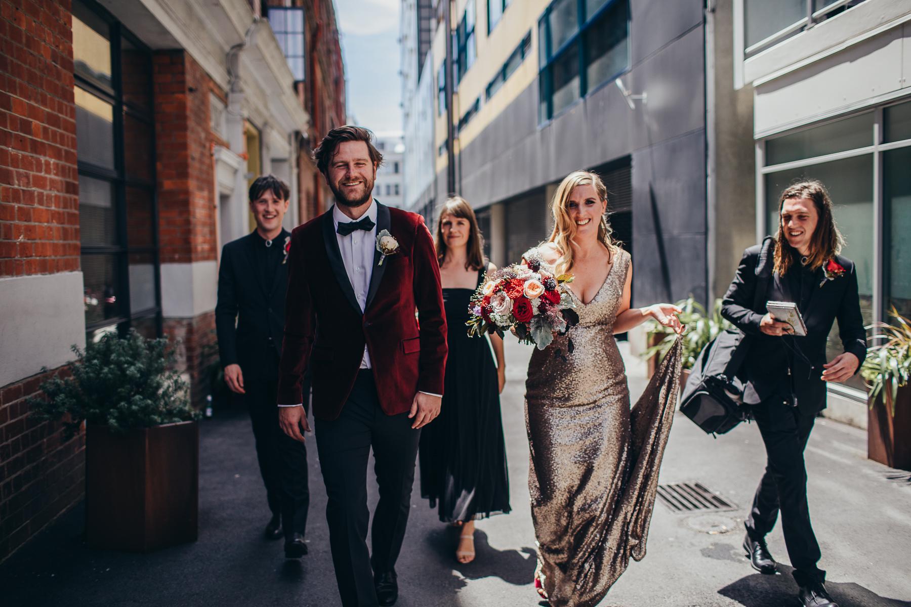 Wellington Wedding, Boatshed