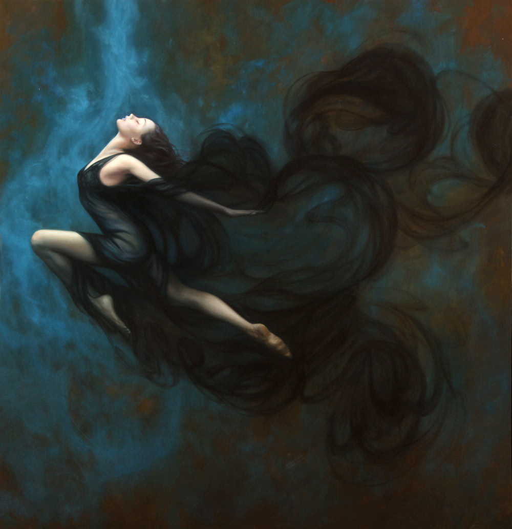 """Shadow Dance"" oil on canvas, 55""x75"""