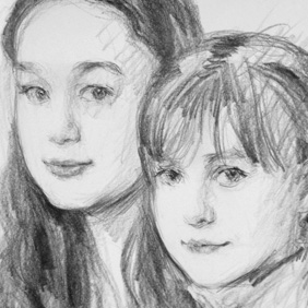 Pencil Drawn Portraits - Hand drawn pencil portraits are looser and more expressive in nature when done from life during a studio sitting.VIEW MORE LIKE THIS