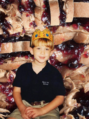 Graham Blackall, 4-year-old pb&j royalty.