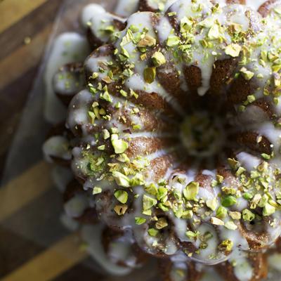 Pistachio Rose Water Cake
