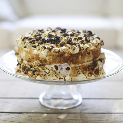 CHOCOLATE S'MORES CAKE