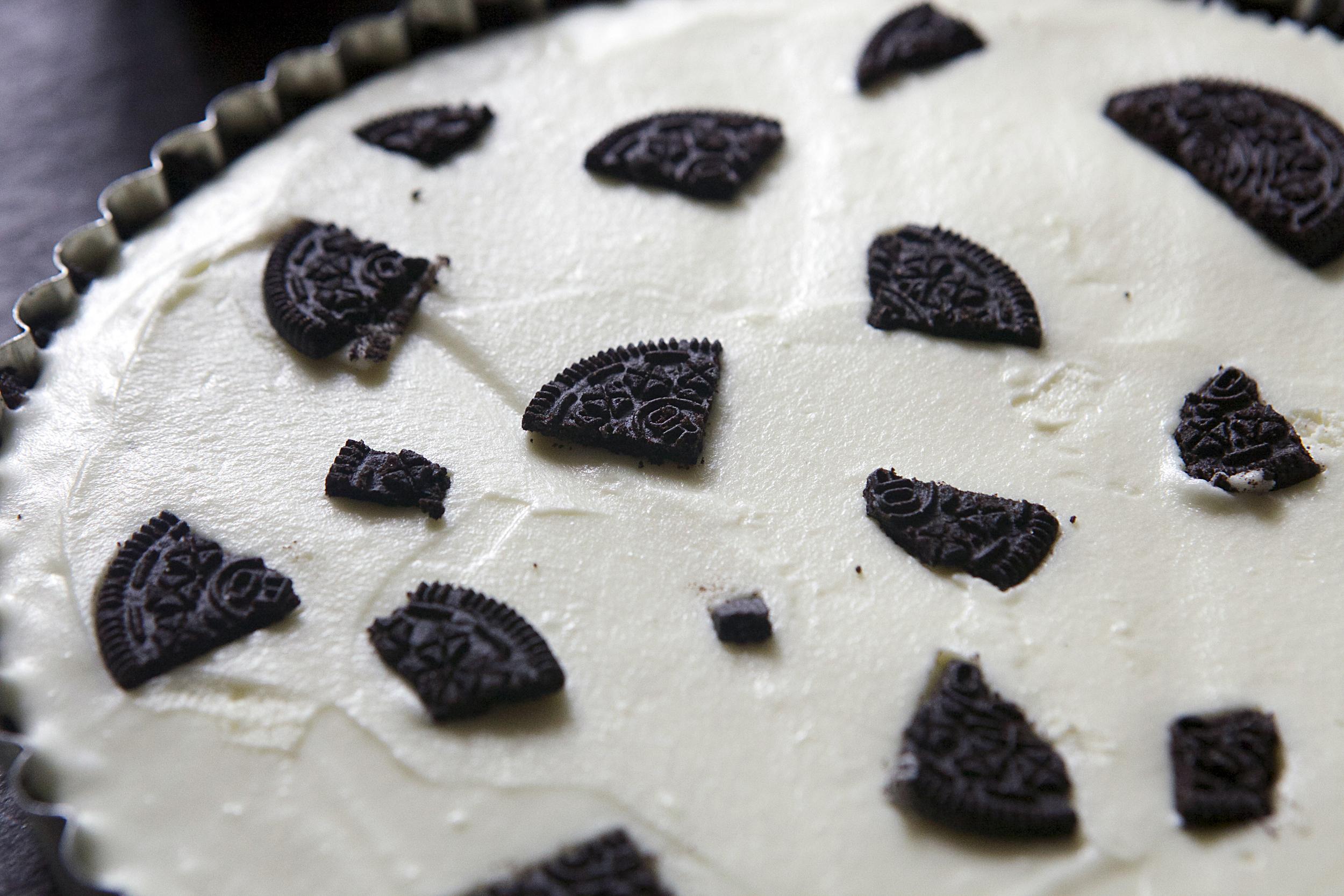 White Chocolate Mascarpone Oreo Tart with Oreo Whipped Cream // Glazed & Confused
