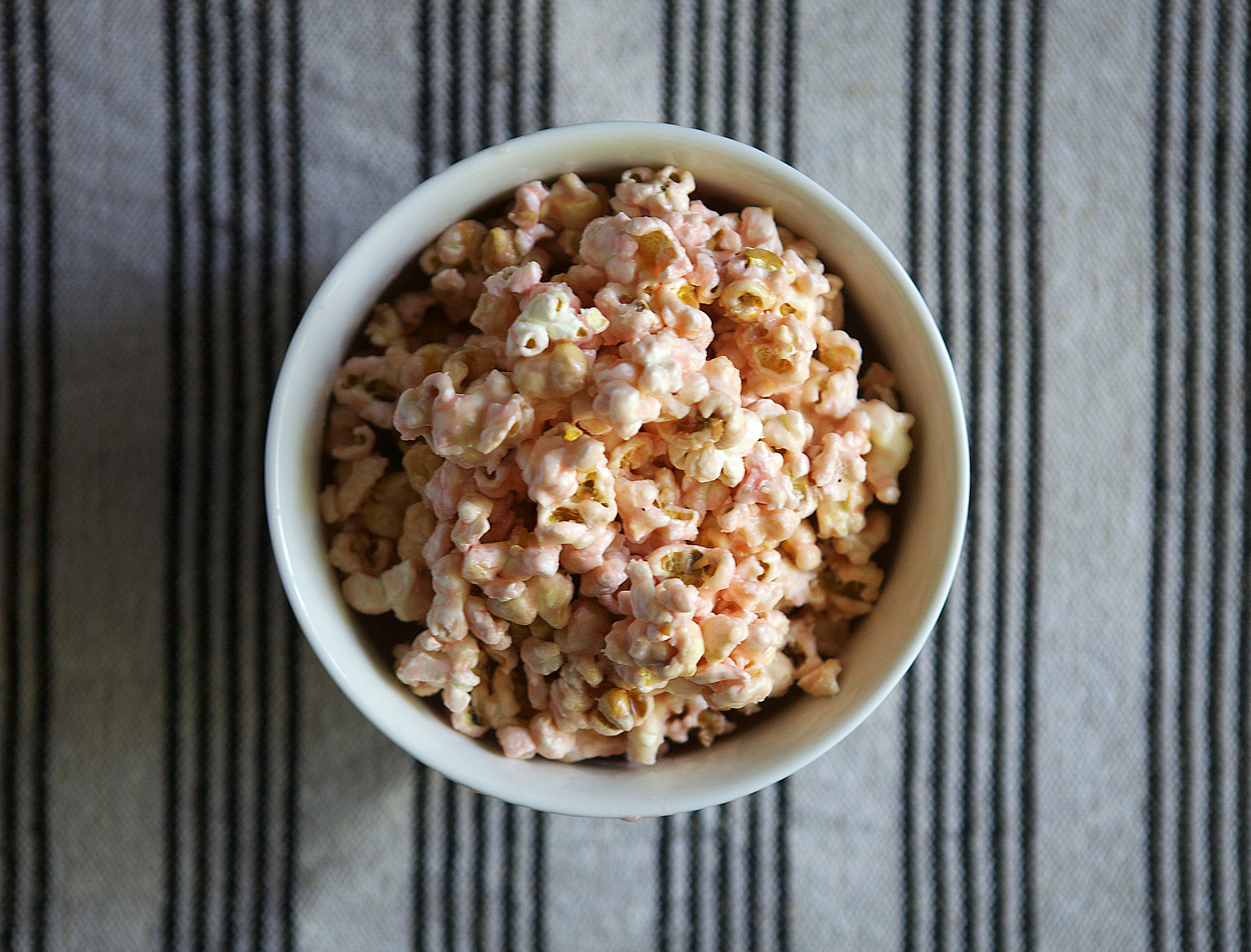 maraschino cherry popcorn // Glazed & Confused