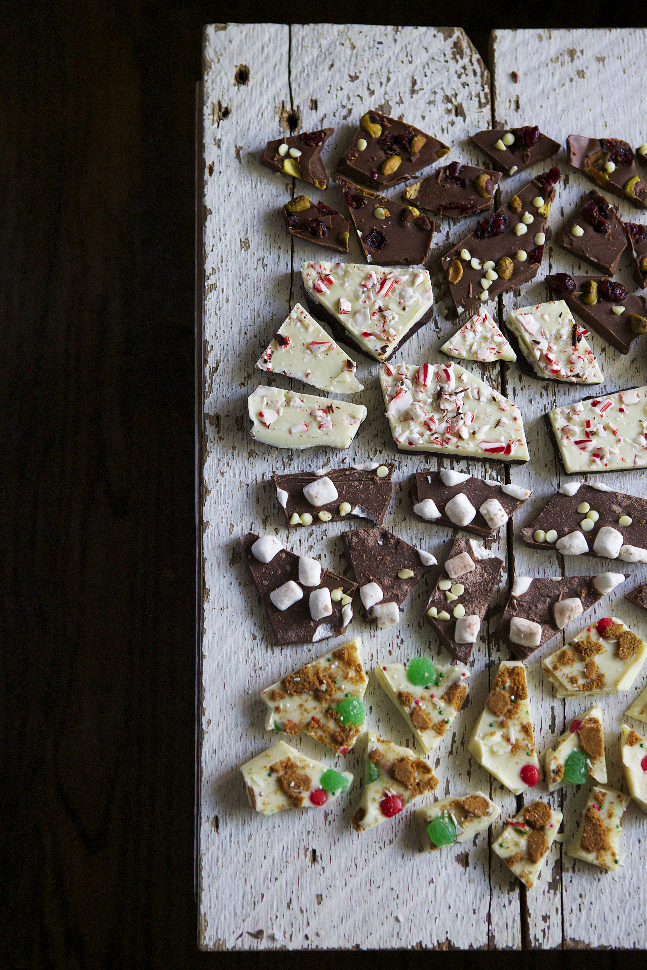 holiday chocolate barks // Glazed & Confused